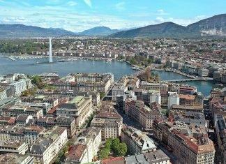 Lago em Genebra
